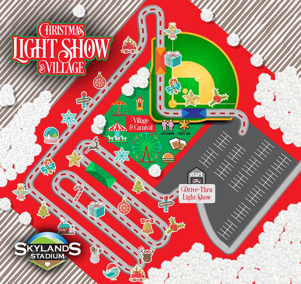 Skylands Christmas Lights 2021 Light Show Skylands Stadium